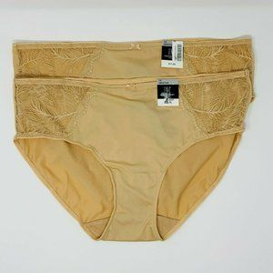 Inc Lace Trim Hipster Underwear Size 1X, 2 Pairs